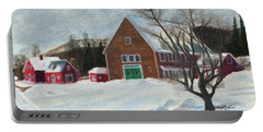 New Hampshire Farm In Winter Portable Battery Charger