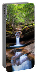 New Hampshire Sabbaday Falls And Fall Foliage Panorama Portable Battery Charger