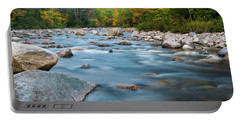 New Hampshire Swift River And Fall Foliage In Autumn Portable Battery Charger