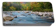 New Hampshire Swift River And Fall Foliage In Autumn Portable Battery Charger by Ranjay Mitra