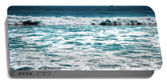 New Horizon - Blue Ocean Portable Battery Charger by Colleen Kammerer
