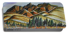 Portable Battery Charger featuring the painting New Mexico Back Country by Terry Banderas