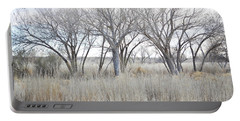 Portable Battery Charger featuring the photograph New Mexico Desert Tree Field by Andrea Hazel Ihlefeld