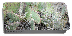 Portable Battery Charger featuring the photograph New Mexico Green Prickly Pear Cactus by Andrea Hazel Ihlefeld