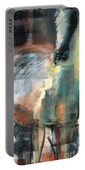 Portable Battery Charger featuring the pastel New Mexico Horse Three by Frances Marino