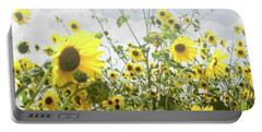 Portable Battery Charger featuring the photograph New Mexico Sunflowers by Andrea Hazel Ihlefeld