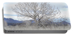 Portable Battery Charger featuring the photograph New Mexico Tree Mountain Landscape by Andrea Hazel Ihlefeld
