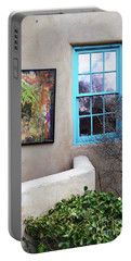 Portable Battery Charger featuring the photograph New Mexico Turquoise Window Landscape by Andrea Hazel Ihlefeld