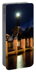 New Moon At Hillsboro Inlet Lighthouse Portable Battery Charger