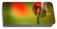 New Orange Poppy Bloom Portable Battery Charger