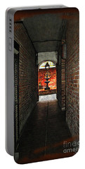 New Orleans Alley Portable Battery Charger by Joan  Minchak