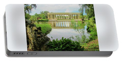 New Orleans City Park Peristyle From Goldfish Island Portable Battery Charger by Deborah Lacoste