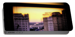 Portable Battery Charger featuring the photograph New Orleans Window Sunrise by Jim Albritton