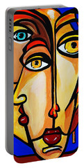 New Picasso By Nora Friends Portable Battery Charger by Nora Shepley