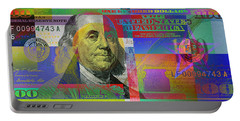 New Pop-colorized One Hundred Us Dollar Bill Portable Battery Charger