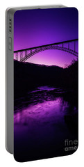 New River Gorge Bridge Afterglow Portable Battery Charger