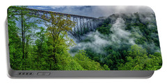 New River Gorge Bridge Morning  Portable Battery Charger