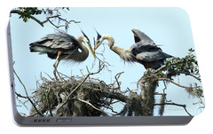 Portable Battery Charger featuring the photograph New Twig by Deborah Benoit