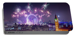 New Year Fireworks London Portable Battery Charger