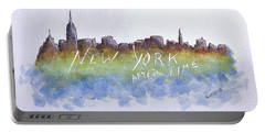 New York After Time Portable Battery Charger by Edwin Alverio