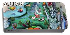 New York Cartoon Map Portable Battery Charger