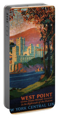 New York Central Lines - West Point - Retro Travel Poster - Vintage Poster Portable Battery Charger