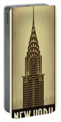 New York Chrysler Building Portable Battery Charger
