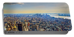 New York City - Manhattan Portable Battery Charger by Mark Dodd