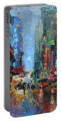 New York City 42nd Street Painting Portable Battery Charger