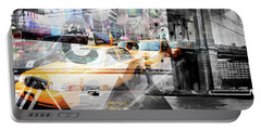 New York City Geometric Mix No. 9 Portable Battery Charger by Melanie Viola