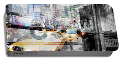 Portable Battery Charger featuring the photograph New York City Geometric Mix No. 9 by Melanie Viola