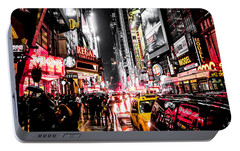 New York City Night II Portable Battery Charger by Nicklas Gustafsson