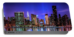 Portable Battery Charger featuring the photograph New York City Shine by Theodore Jones