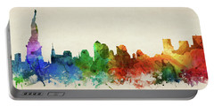 New York City Skyline Panorama Usnyny-pa03 Portable Battery Charger