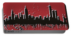New York City Skyline Pop Art Portable Battery Charger