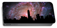 New York City Skyline Silhouette Galaxy Portable Battery Charger