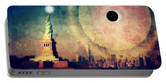 New York City Solar Eclipse 2017 II Portable Battery Charger