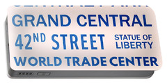 New York City Subway Sign Typography Art 10 Portable Battery Charger