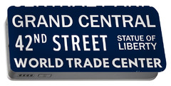 New York City Subway Sign Typography Art 11 Portable Battery Charger