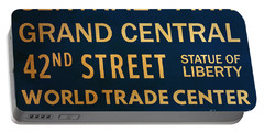 New York City Subway Sign Typography Art 12 Portable Battery Charger
