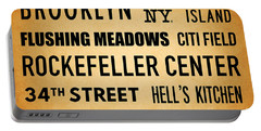 New York City Subway Sign Typography Art 13 Portable Battery Charger