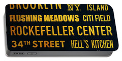 New York City Subway Sign Typography Art 14 Portable Battery Charger