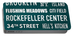 New York City Subway Sign Typography Art 15 Portable Battery Charger