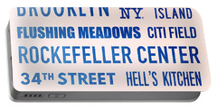 New York City Subway Sign Typography Art 17 Portable Battery Charger