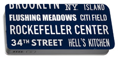 New York City Subway Sign Typography Art 18 Portable Battery Charger