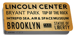 New York City Subway Sign Typography Art 19 Portable Battery Charger