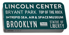 New York City Subway Sign Typography Art 21 Portable Battery Charger