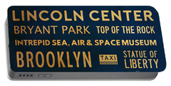 New York City Subway Sign Typography Art 22 Portable Battery Charger