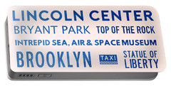 New York City Subway Sign Typography Art 23 Portable Battery Charger