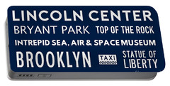 New York City Subway Sign Typography Art 24 Portable Battery Charger